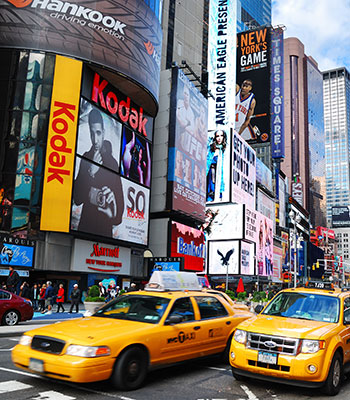 New York traffic in Times Square